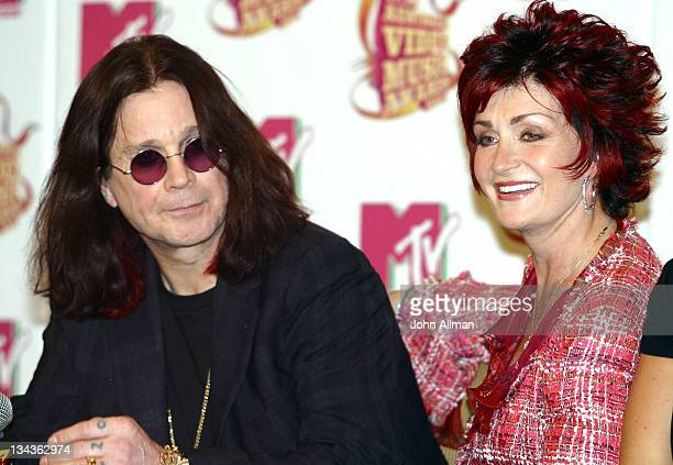 Ozzy Osbourne and Sharon Osbourne during 2005 MTV Australia Video Music Awards Press Conference at Four Seasons Hotel in Sydney NSW Australia