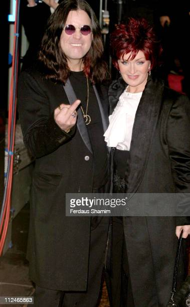 Ozzy Osbourne and Sharon Osbourne during 'Bridget Jones The Edge of Reason' London Premiere Outside Arrivals at Odeon Leicester Square in London...