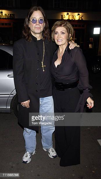 Ozzy Osbourne and Sharon Osbourne during The Osbournes Sighting at Cipriani in London October 22 2005 at Cipriani in London Great Britain