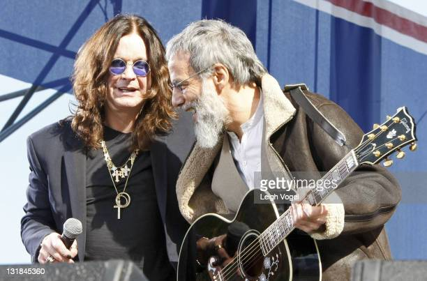 Ozzy Osbourne and Yusuf Islam aka Cat Stevens attend Jon Stewart and Stephen Colbert's 'Rally to Restore Santiy and/or Fear' on October 30 2010 in...