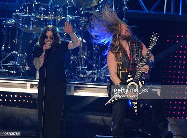Ozzy Osbourne and Zakk Wylde during 2007 VH1 Rock Honors - Show at Mandalay Bay in Las Vegas, Nevada, United States.