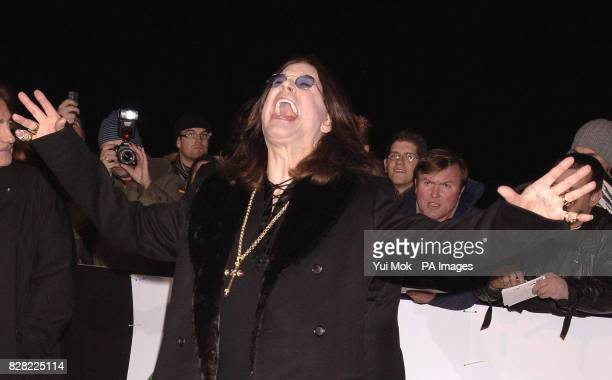 Ozzy Osbourne arrives for the UK Music Hall Of Fame 2005 live final at the Alexandra Palace north London Wednesday 16 November 2005 The live final is...