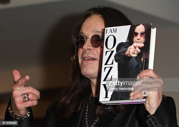 Ozzy Osbourne attends a signing event for his new autobiography 'I Am Ozzy' at HMV on October 2 2009 in London England