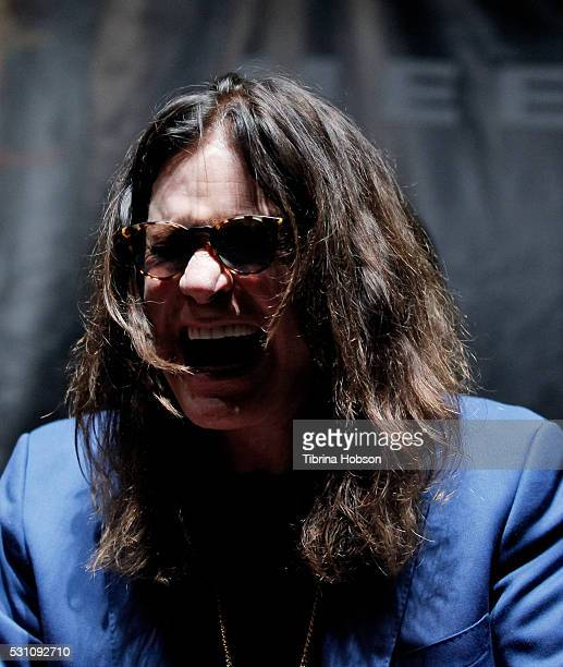 Ozzy Osbourne attends the Ozzy Osbourne and Corey Taylor special announcement press conference on May 12 2016 in Hollywood California