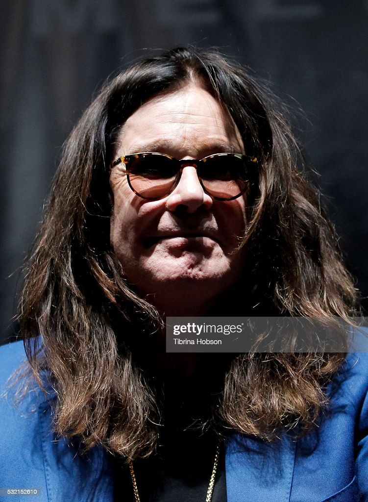 Ozzy Osbourne attends the Ozzy Osbourne and Corey Taylor special announcement press conference on May 12, 2016 in Hollywood, California.