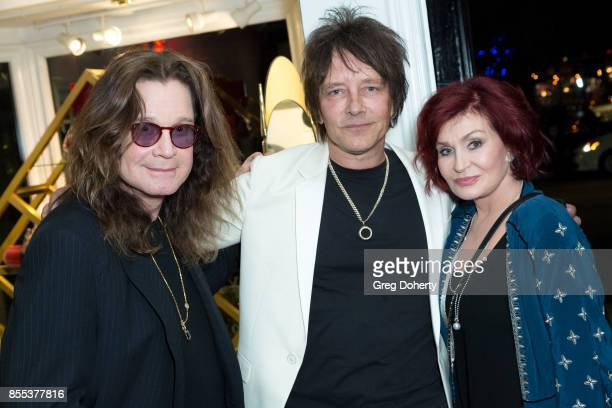 Ozzy Osbourne Billy Morrison and Sharon Osbourne attend the Billy Morrison Aude Somnia Solo Exhibition at Elisabeth Weinstock on September 28 2017 in...