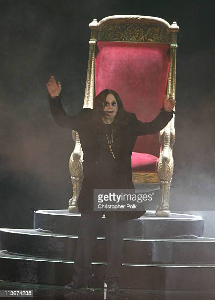 Ozzy Osbourne during Spike TV's Scream Awards 2006 Show at Pantages Theater in Hollywood California United States