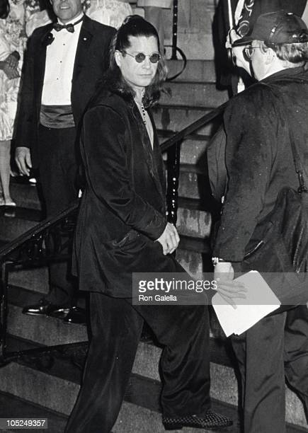Ozzy Osbourne during Wedding of Mariah Carey and Tommy Mottola at St Thomas Episcopal Church/Metropolitan Club in New York City NY United States