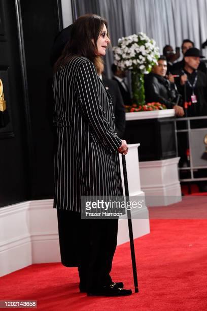 Ozzy Osbourne, fashion detail, attends the 62nd Annual GRAMMY Awards at STAPLES Center on January 26, 2020 in Los Angeles, California.