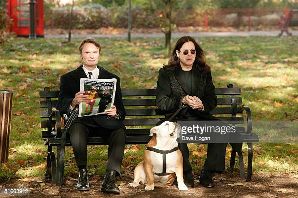 Ozzy Osbourne films the video for his new single 'In My Life' on October 26 2004 in Battersea Park London