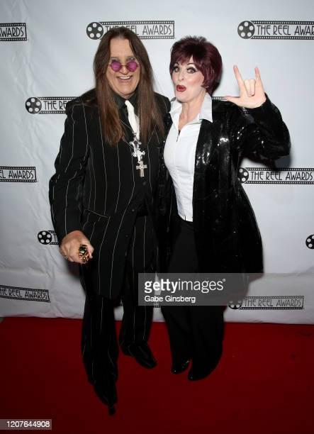 Ozzy Osbourne impersonator Don Rugg and Sharon Osbourne impersonator Bonnie Kilroe attend The Reel Awards 2020 at Marilyn's Lounge inside the...