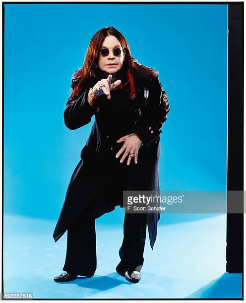 Ozzy Osbourne is photographed for Blender Magazine in 2002 in Los Angeles California