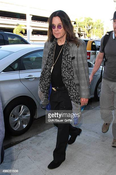 Ozzy Osbourne is seen at LAX on November 06 2015 in Los Angeles California