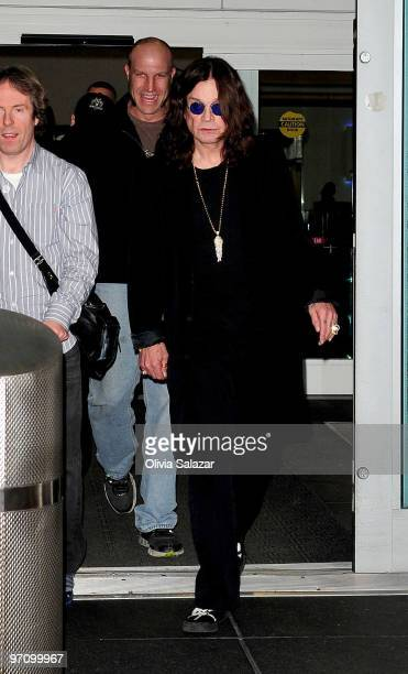 Ozzy Osbourne is sighted at Fort Lauderdale International Airport on February 25 2010 in Fort Lauderdale Florida