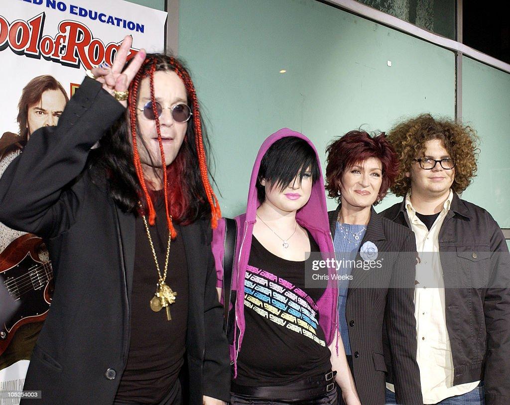 Ozzy Osbourne, Kelly Osbourne, Sharon Osbourne and Jack Osbourne