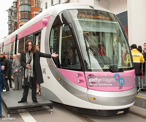 Ozzy Osbourne names a tram Midland Metro tram 'Ozzy Osbourne' which will run on a newlyopened route in the city centre on May 26 2016 in Birmingham...