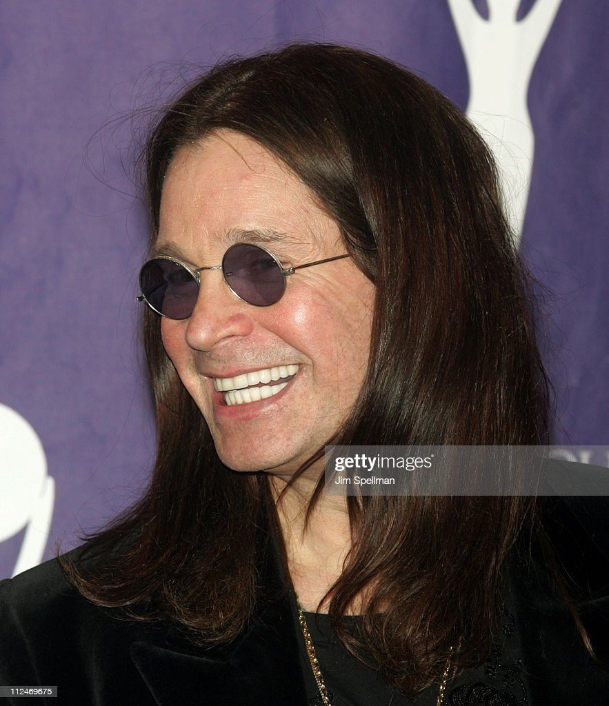 Ozzy Osbourne of Black Sabbath, inductee during 21st Annual Rock and Roll Hall of Fame Induction Ceremony - Press Room at Waldorf Astoria in New York City, New York, United States.
