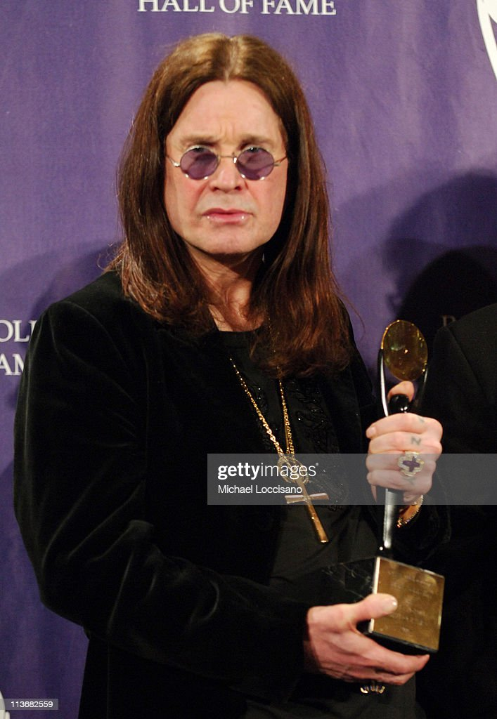 Ozzy Osbourne of Black Sabbath, inductee during 21st Annual Rock and Roll Hall of Fame Induction Ceremony - Press Room at The Waldorf-Astoria in New York City, New York, United States.