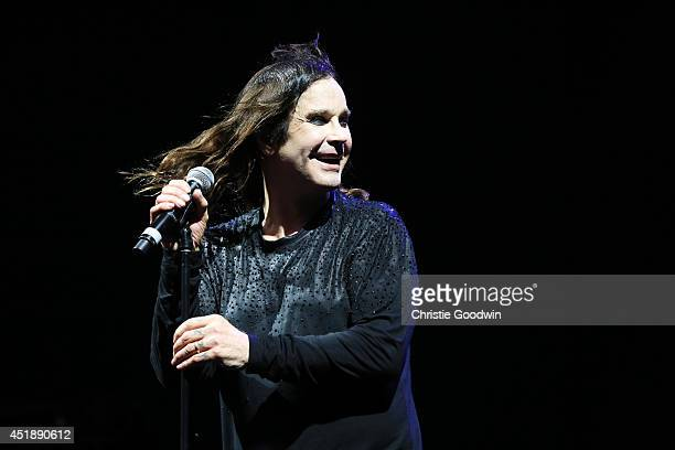 Ozzy Osbourne of Black Sabbath performs on stage at British Summer Time Festival at Hyde Park on July 4 2014 in London United Kingdom