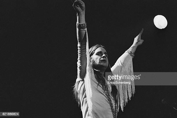 Ozzy Osbourne of Black Sabbath performs on stage at Hammersmith Odeon London January 1976