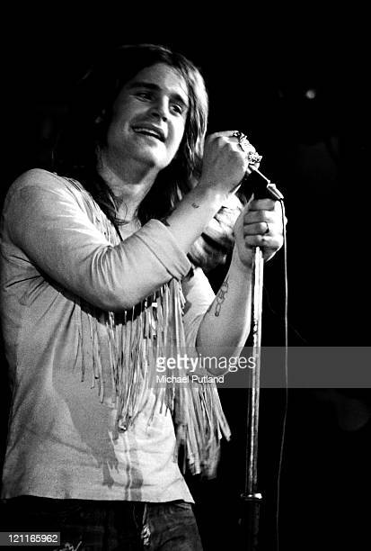Ozzy Osbourne of Black Sabbath performs on stage at the Royal Albert Hall London on 17th February 1972