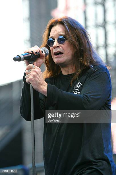 Ozzy Osbourne performs at Ozzfest 2008 at the Pizza Hut Park on August 9, 2008 in Frisco, Texas.