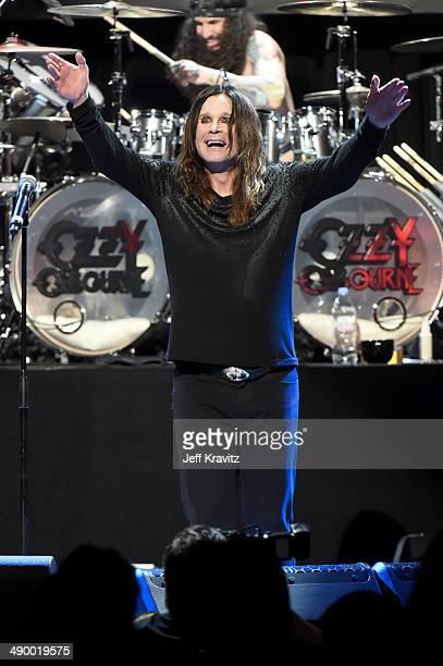 Ozzy Osbourne performs at the 2014 10th annual MusiCares MAP Fund Benefit Concert at Club Nokia on May 12 2014 in Los Angeles California