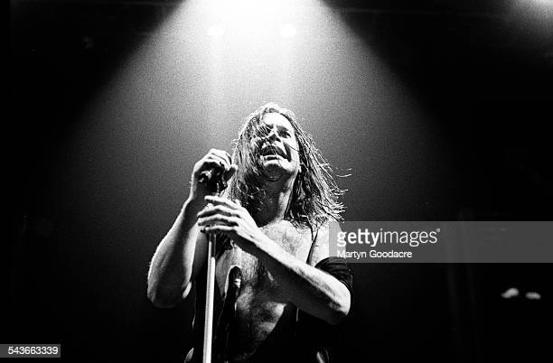 Ozzy Osbourne performs on stage at Brixton Academy London United Kingdom 1997