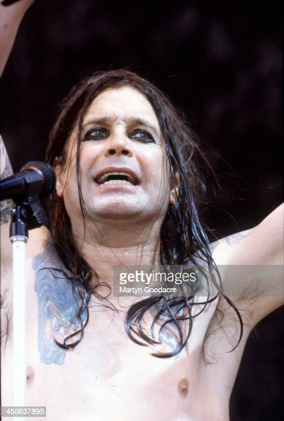 Ozzy Osbourne performs on stage at Monsters Of Rock Donington Park United Kingdom 17th August 1996