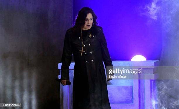Ozzy Osbourne performs onstage during the 2019 American Music Awards at Microsoft Theater on November 24, 2019 in Los Angeles, California.