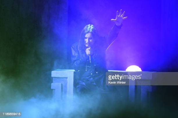 Ozzy Osbourne performs onstage during the 2019 American Music Awards at Microsoft Theater on November 24 2019 in Los Angeles California