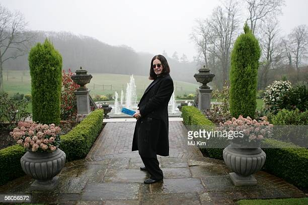 Ozzy Osbourne plays the fool with the symbolic blue brick as he films the video for the new Tsunami relief charity single a cover of the Sir Eric...
