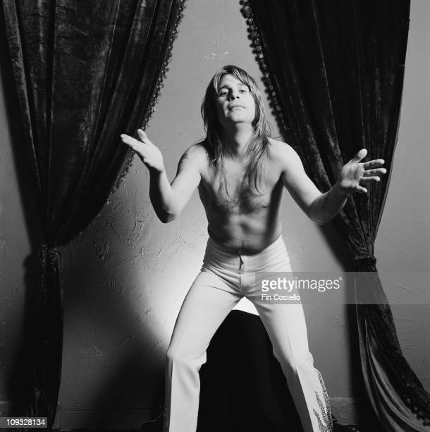 Ozzy Osbourne posed with bare chest during the 'Diary Of A Madman' LP cover session in London in September 1981