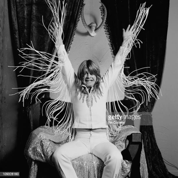 Ozzy Osbourne posed with his trademark fringed jacket during the 'Diary Of A Madman' LP cover session in London in September 1981