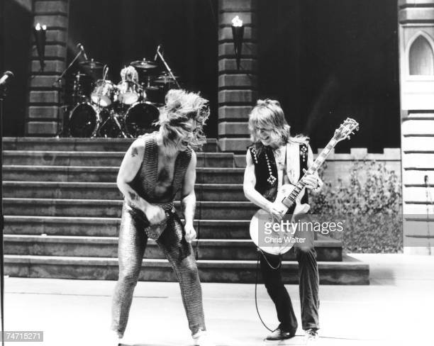 Ozzy Osbourne Randy Rhoads 1980 during Music File Photos 1980's at the Music File Photos 1980's in los angeles