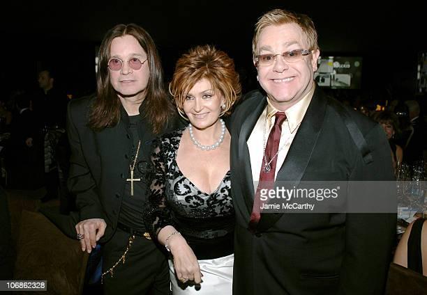 Ozzy Osbourne Sharon Osbourne and Elton John **EXCLUSIVE**