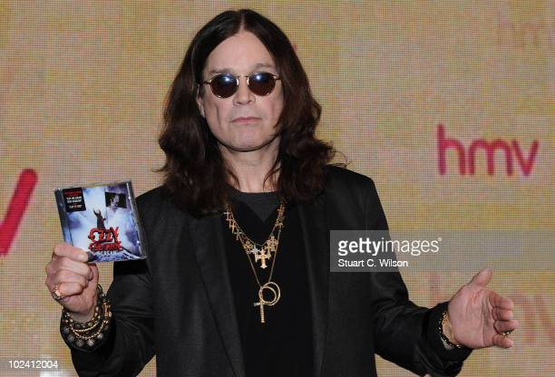 Ozzy Osbourne signs copies of his new album 'Scream' at HMV Oxford Street on June 25, 2010 in London, England.