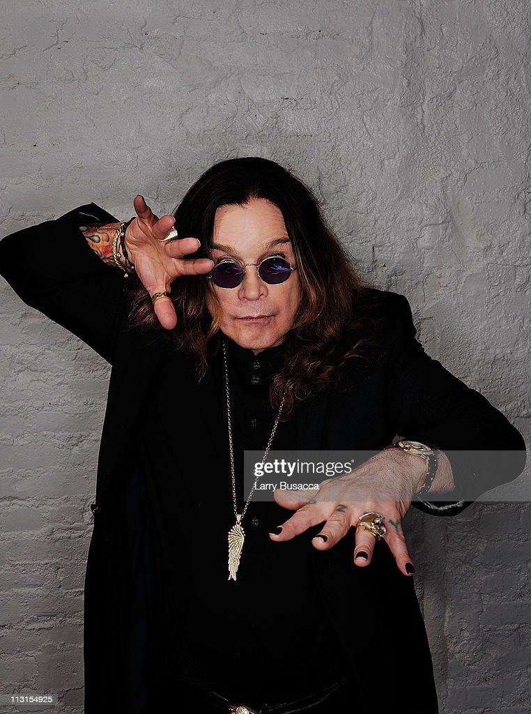 Ozzy Osbourne visits the Tribeca Film Festival 2011 portrait studio on April 25, 2011 in New York City.