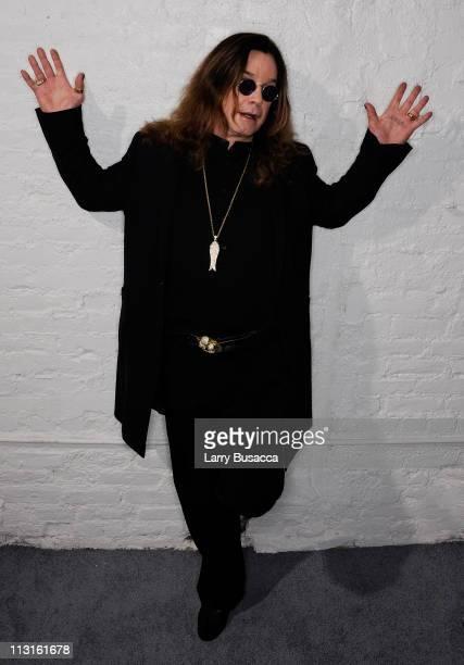 Ozzy Osbourne visits the Tribeca Film Festival 2011 portrait studio on April 25 2011 in New York City