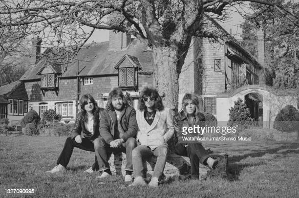 Ozzy Osbourne with his band at Ridge Farm Studios during the recording of his album 'Diary Of A Madman', Surrey, United Kingdom, March 1981. L-R Ozzy...