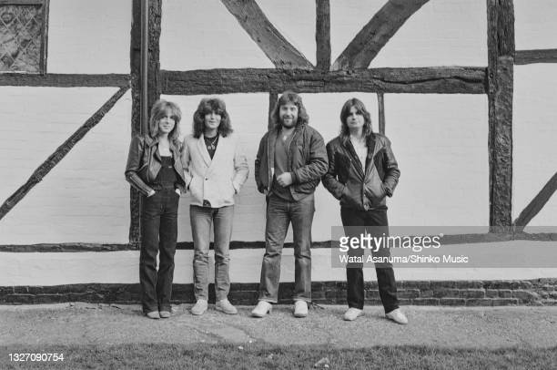 Ozzy Osbourne with his band at Ridge Farm Studios during the recording of his album 'Diary Of A Madman', Surrey, United Kingdom, March 1981. L-R...