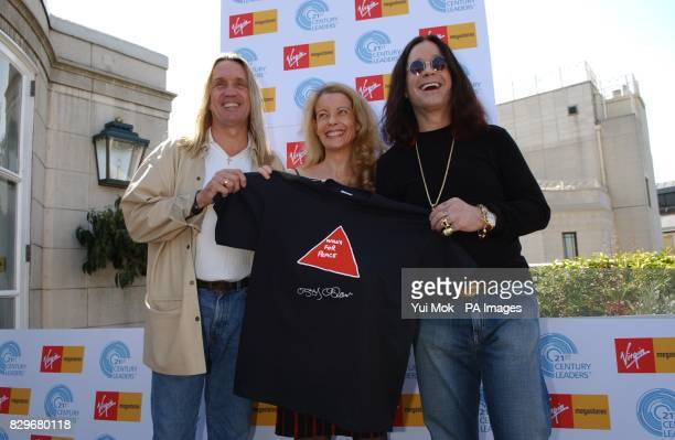 Ozzy Osbourne with Nicko McBrain of Iron Maiden and Charlotte di Vita MBE during the launch of an organisation that aims to raise $3 million for...