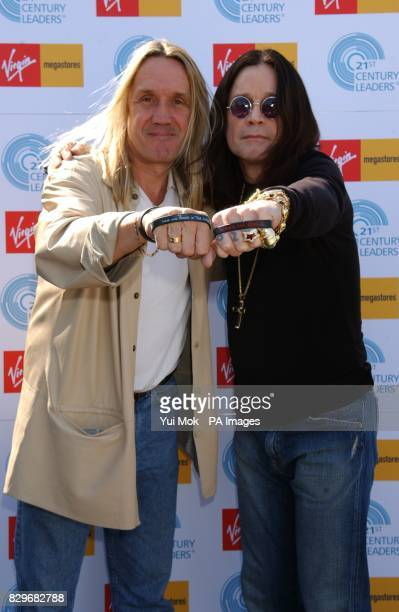 Ozzy Osbourne with Nicko McBrain of Iron Maiden during the launch of an organisation that aims to raise $3 million for charities chosen by each...