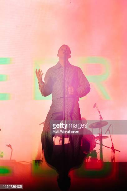 P Jonny Pierce of The Drums perform at the LA Pride 2019 on June 08, 2019 in West Hollywood, California.