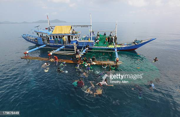 Pa Aling fishermen surface after a deep dive