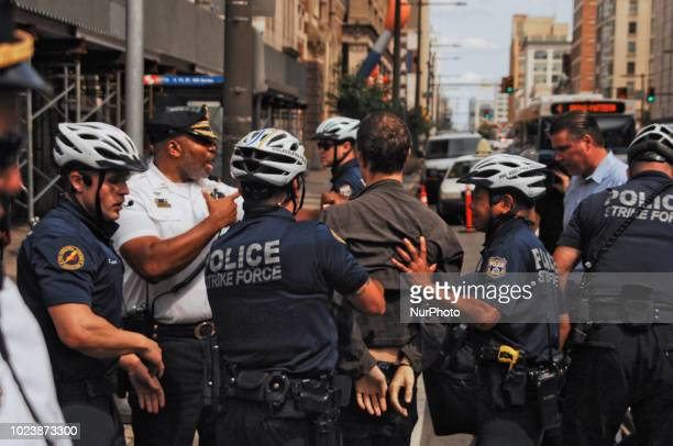 PHILADELPHIA Pa Police target AntiFascist protesters using Black Bloc tactic to protect their identities from police surveillance and AltRight...