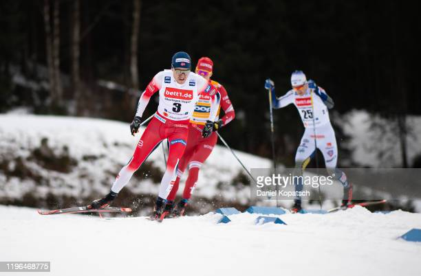 Paal Golberg of Norway competes during the men's cross country sprint quarterfinal at the FIS nordic world cup Oberstdorf on January 26, 2020 in...