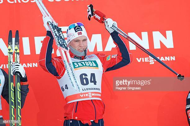 Paal Golberg of Norway takes 1st place during the FIS CrossCountry World Cup Men's 15km Classic on December 7 2013 in Lillehammer Norway