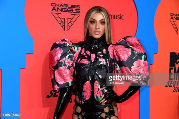 Pabllo Vittar attends the MTV EMAs 2019 at FIBES Conference and Exhibition Centre on November 03 2019 in Seville Spain