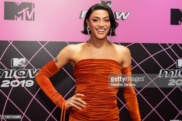Pabllo Vittar attends the MTV MIAW 2019 at Credicard Hall on July 3 2019 in Sao Paulo Brazil